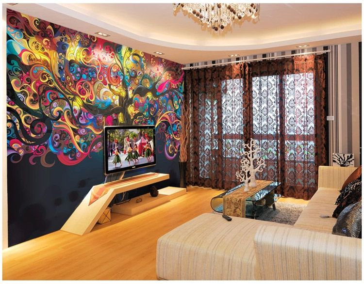 Tree Of Life Photo Wallpaper Psychedelic Wallpaper Custom 3D Wall Mural Art Bedroom  Bedroom Bar Shop