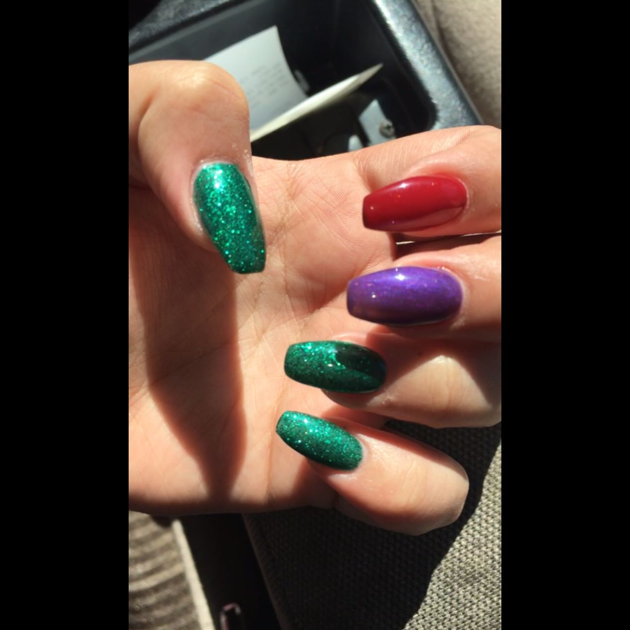 Acrylic nail fill. I did something new and went with a my little ...