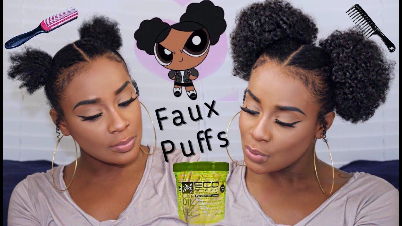 5 Minute Hairstyles For Short Natural Hair Afro Puff Hairstyles