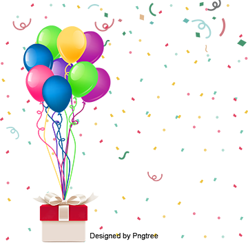 Fantasy Beautiful Color Colorful Cute Happy Birthday Party Balloons Silk Ribbons Color Clipart Cute Clipart Birthday Clipart Png Image And Clipart