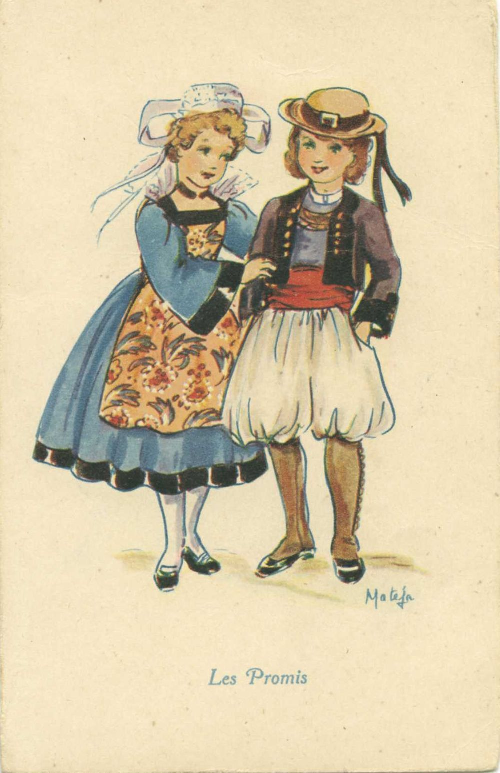 Repr sentation d un jeune couple breton par mat j les costumes ici dessin s sont fantaisistes - Dessiner un ruban ...