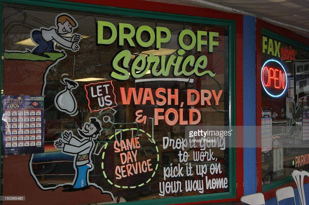 Vancouver British Columbia Canada North America Laundromat Business Vintage Laundry Laundromat