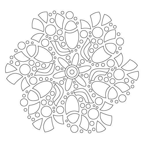 ❤~ Mandala para Colorear ~❤ | Patrones Varios | Pinterest ...