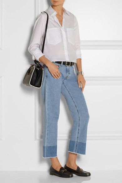 New Cheap Online Victoria Victoria Beckham flared cropped jeans Footaction Sale Reliable Cheap Genuine Buy Cheap Best Seller BOziuPClm4