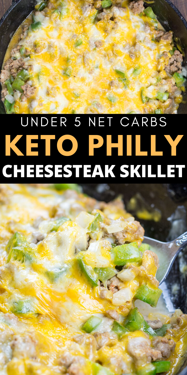One Pan Keto Philly Cheesesteak Skillet The Best Keto Recipes Recipe In 2020 Ground Beef Recipes Easy Low Carb Diet Recipes Beef Recipes
