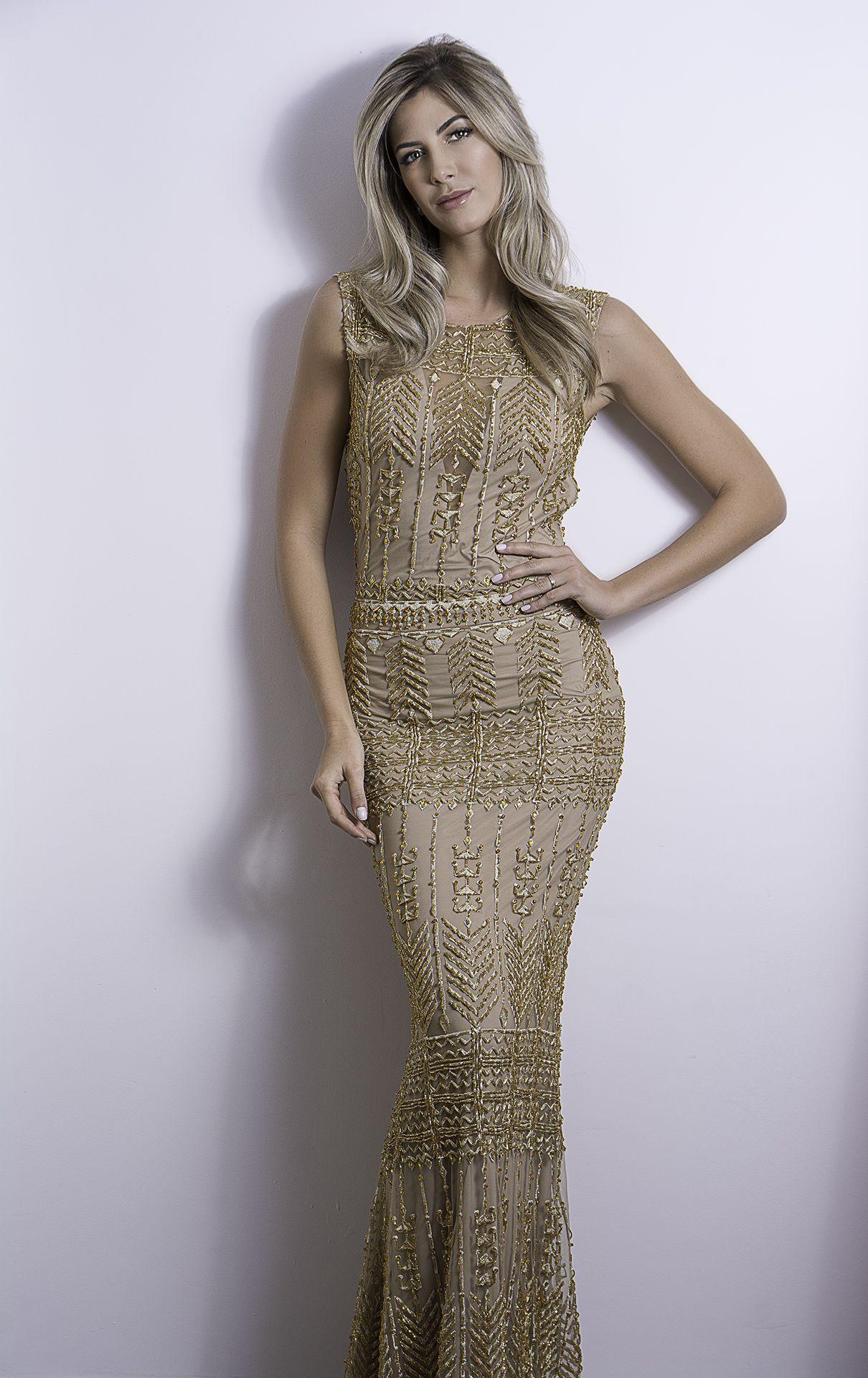 688750cc0 Vestido bordado dourado | Acessórios - Conscious dress | Pinterest ...