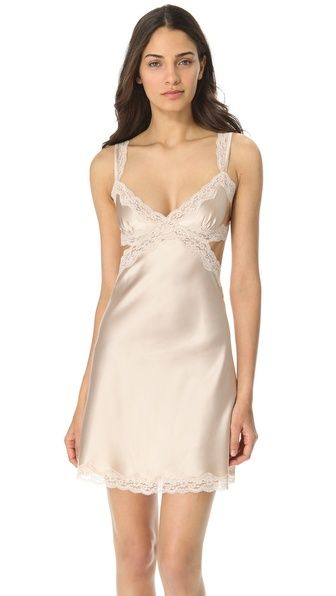 56e25944a3152b Stella McCartney Clara Whispering Chemise - a classic silk and lace chemise  is sugar, spice, and everything nice