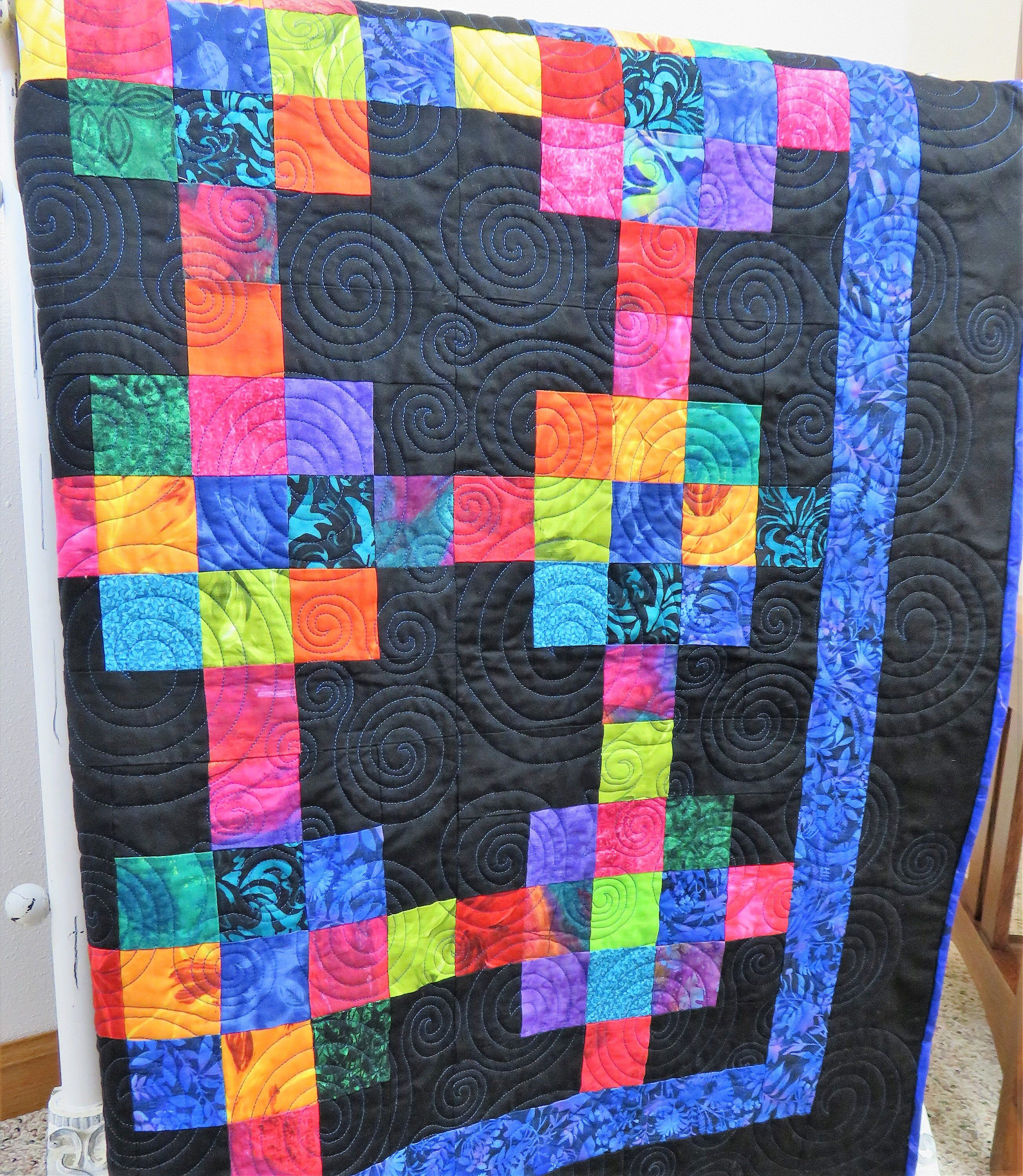 Handmade Full Size Quilt For Sale Modern Quilt Full Size Etsy Handmade Quilts For Sale Handmade Baby Quilts Quilts
