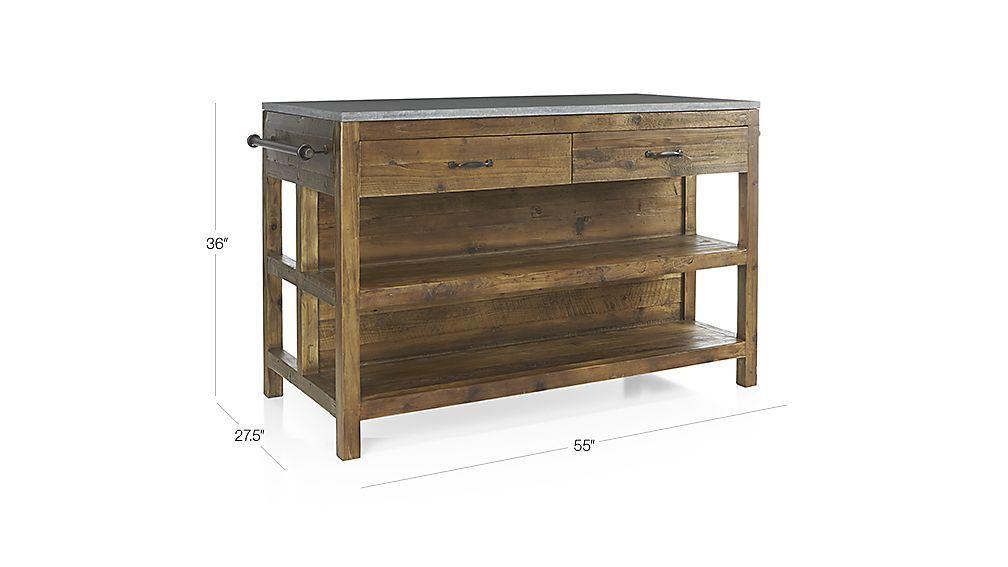 Bluestone Reclaimed Wood Kitchen Island   Pinterest
