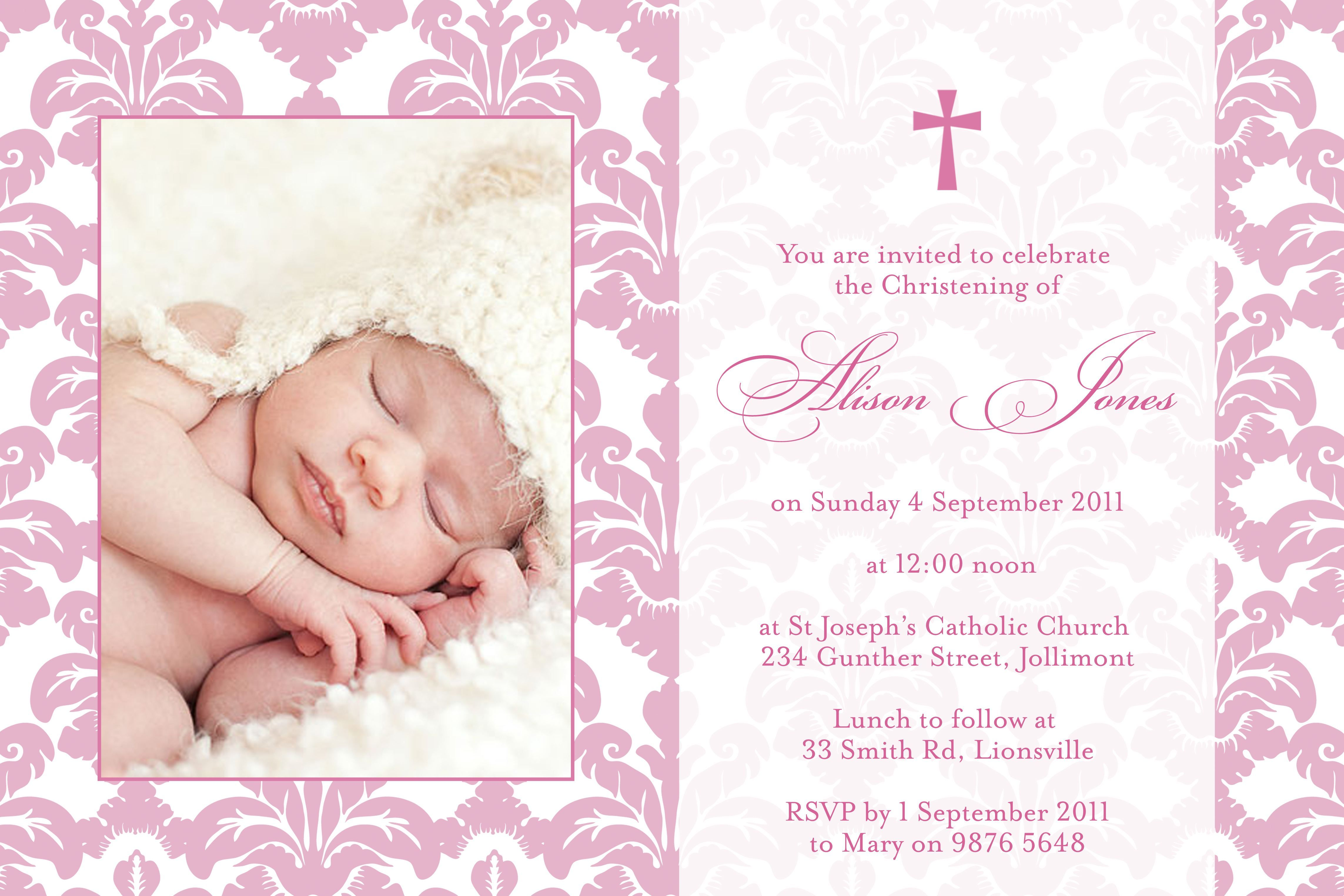 Baptism invitation wording samples baptism invitations pinterest baptism invitation wording samples stopboris Images