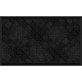Blue Hawk Black Recycled Rubber Rectangular Door Mat Common 36 In X 60 In Actual 36 In X 60 In Recycled Rubber Door Mat Rectangular
