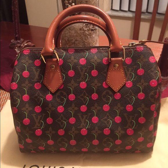 Authentic Louis Vuitton Limited Edition Limited LOUIS VUITTON Cherry  Cerises Speedy 25 d297633549445