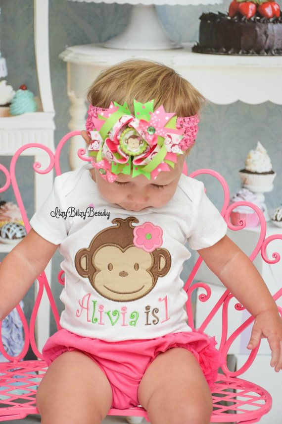 Monkey Birthday Outfit First Birthday Second Birthday Money