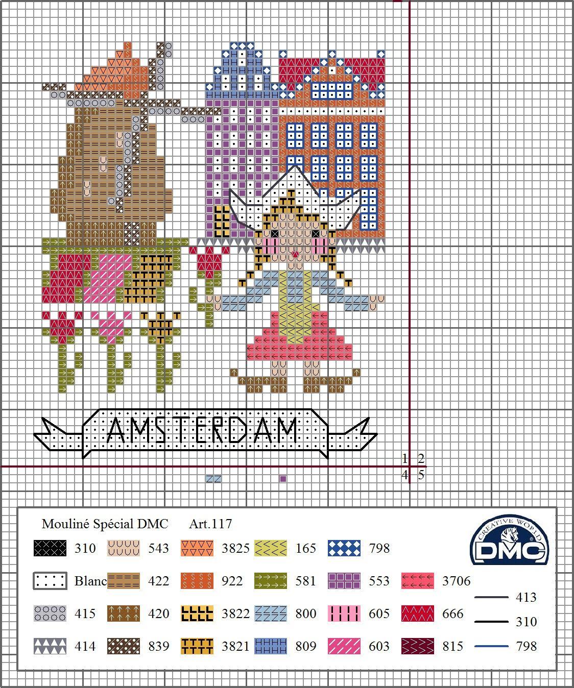 DMC Spain www.acasadajoaninha.blogspot.pt 1- Amsterdam | Cross ...