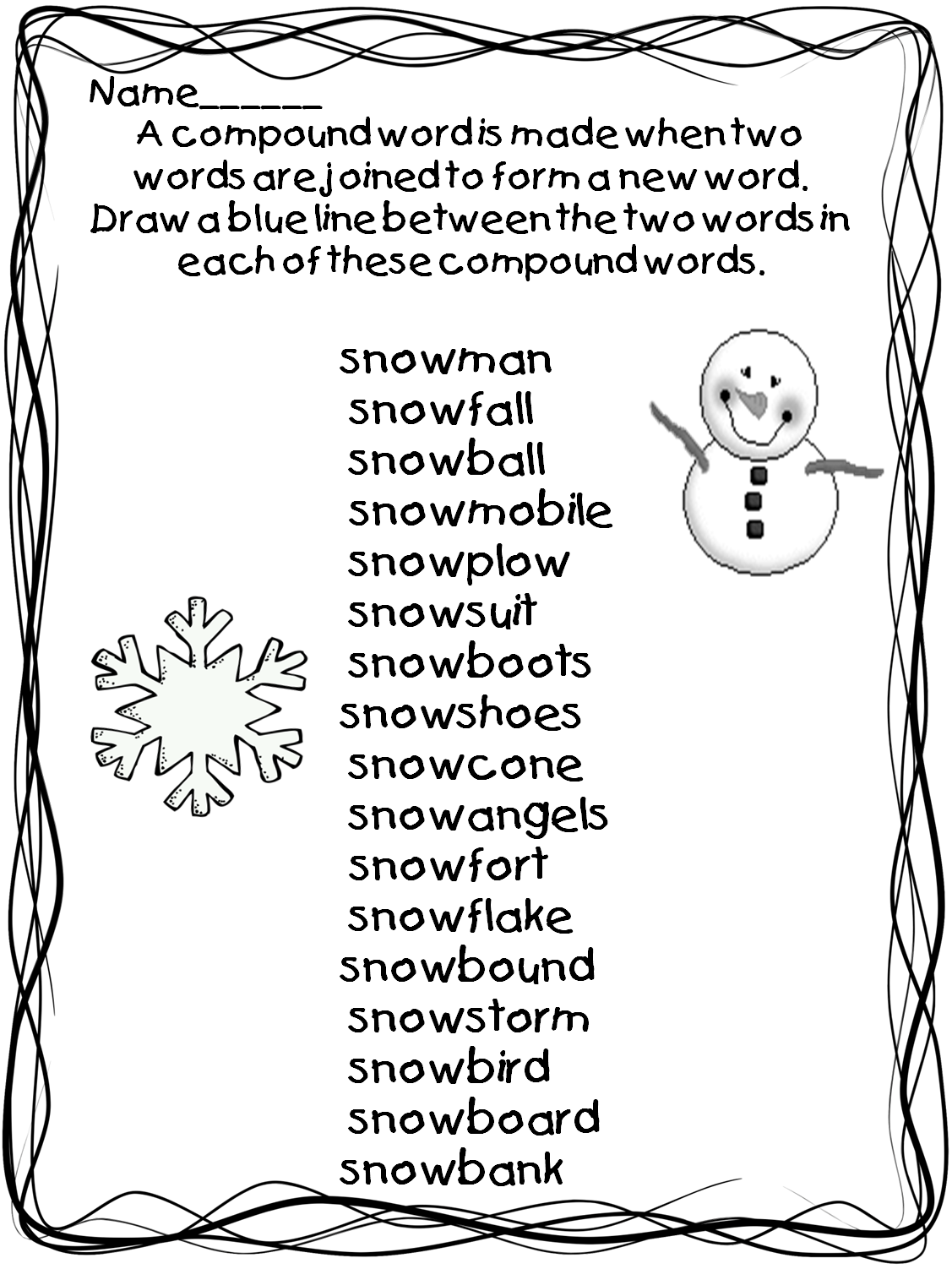 Worksheet First Grade Compound Words 1000 images about compound words on pinterest anchor charts word work and coloring