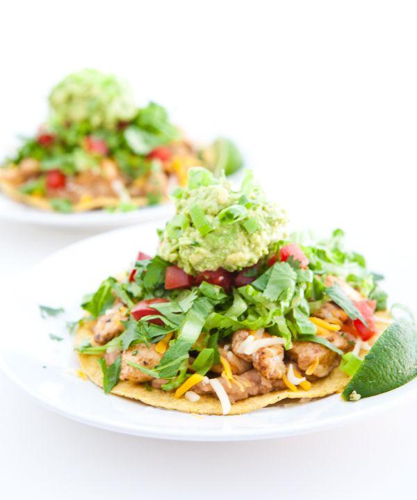 Chipotle Chicken Tostadas by EclecticRecipes.com #recipe