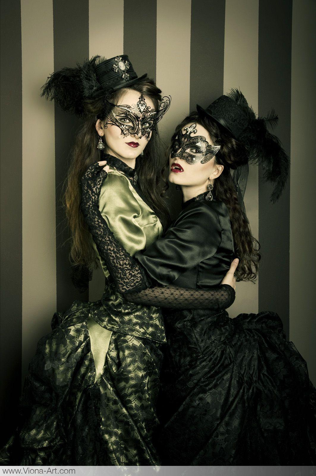 Bloodsisters Love Masks Masked Ball Dark Dress