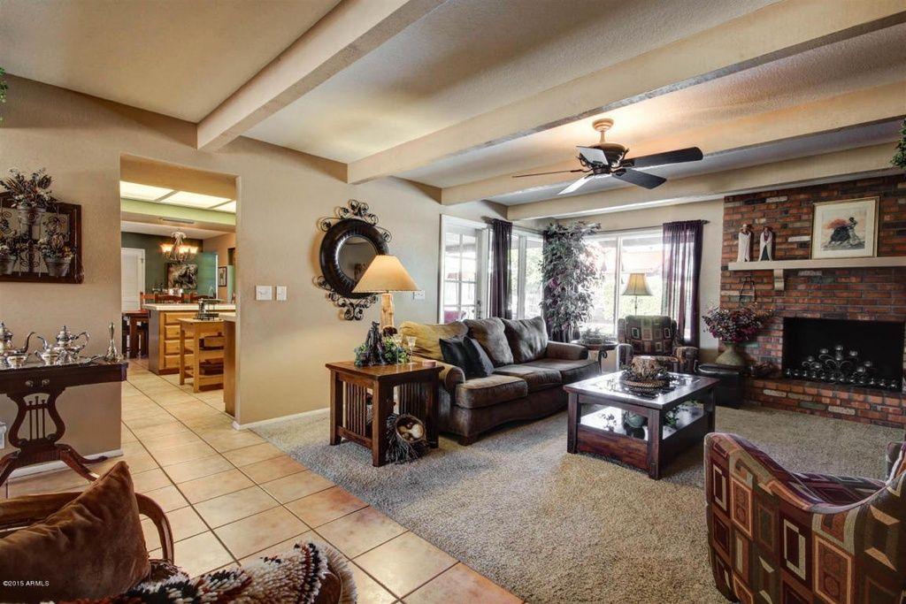 Diy painted fauxwood ceiling beams living room update