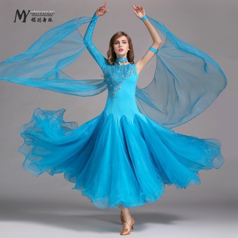 Women/'s Dance Ballroom Dress Adult Waltz Tango Latin Standard Modern Competition