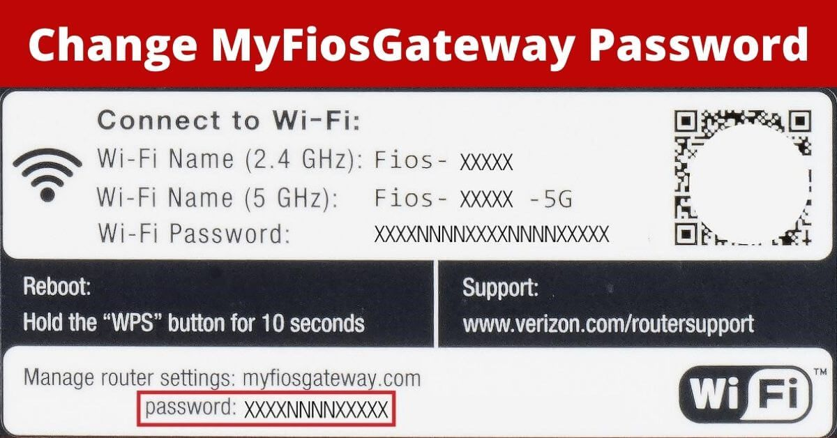How To Change Wifi Password If Myfiosgateway Not Working Router Router Setting Wifi Password