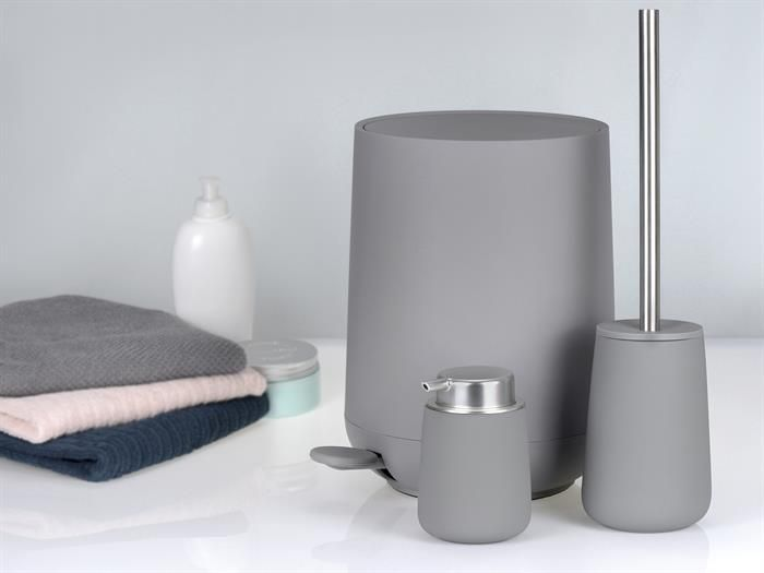 bad accessoires set zone nova grau grey kosmetikeimer toilettenba 1 4 rste petrol