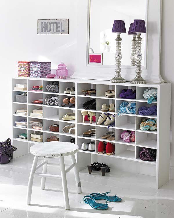 Yo quiero una cajonera asi antojitos pinterest mueble zapatero muebles y muebles - Estanterias para calzado ...