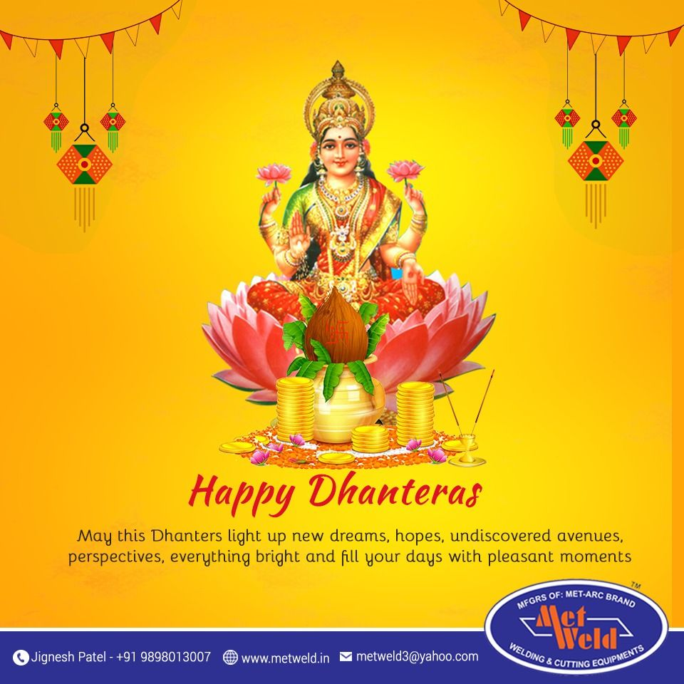 On Dhanteras Occasion Wishing you Wealth, Good Health ...