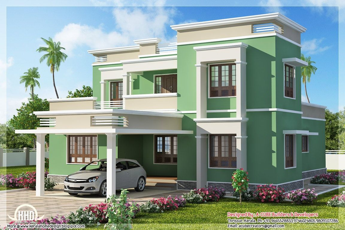Front Design Of House In Small Budget Double Floor Small House Design House Porch Design Modern House Plans