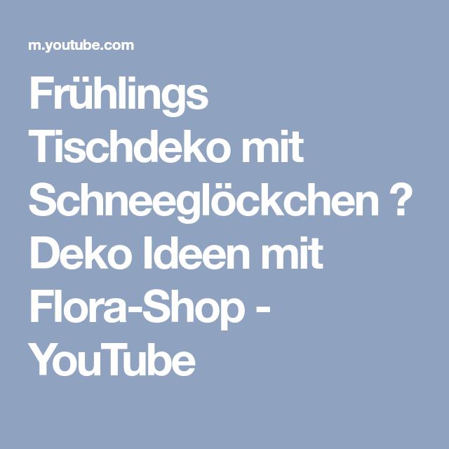 Deko Flora Line frühlings tischdeko mit schneeglöckchen deko ideen mit flora shop