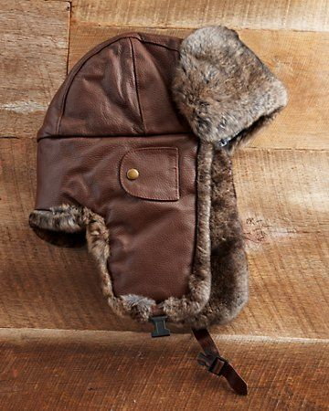 817eb7228f9d6 Mad Bomber Flying Ace Leather Hat
