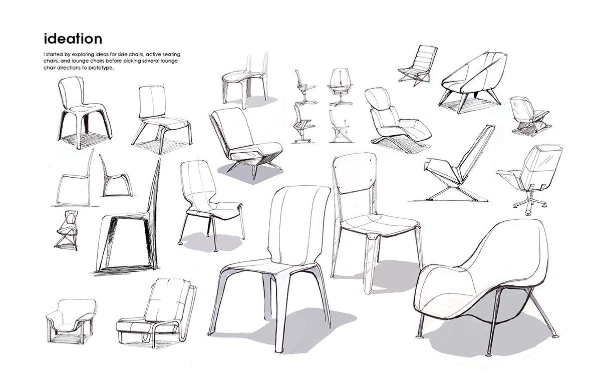 Aster Lounge By John Swain Furniture Design Sketches Industrial Design Sketch Design Sketch