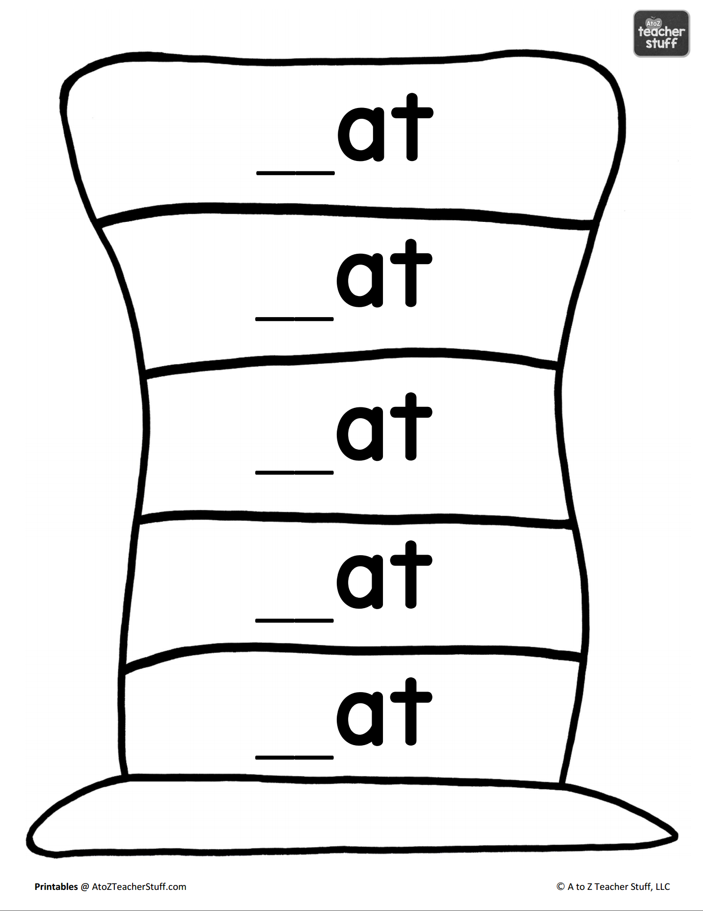 Hat Printables For Dr Seuss Cat In The Hat Or Just Hats