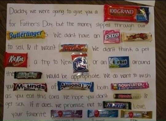 Candy Bar Card Candy Cards Birthday Card Sayings Dad Birthday Card