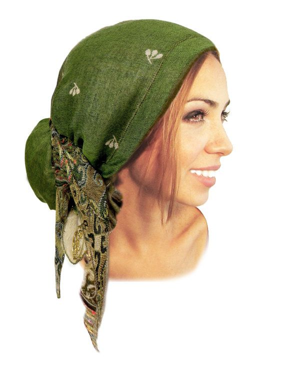 90dbbdaaaae62d Olive forest green head scarf hippie boho chic by ShariRoseShop ...