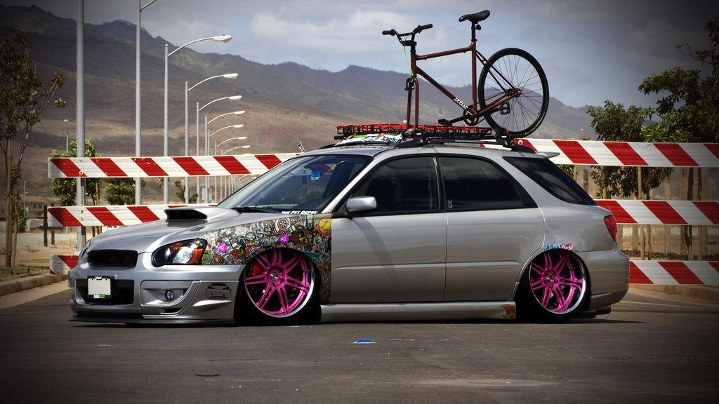 Love The Decal Fender Slammed Rides Wrx Wagon Subaru Subaru Wagon