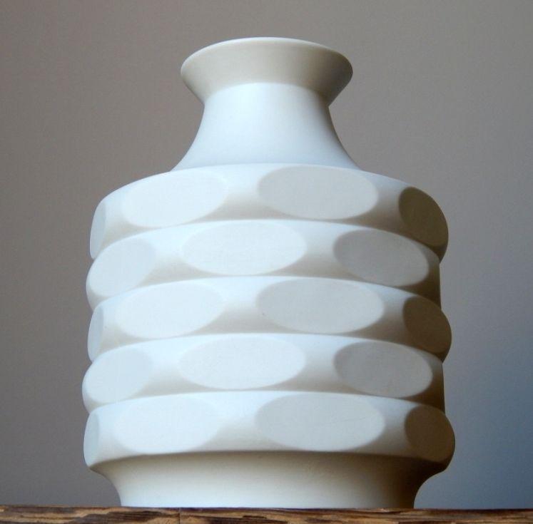 Vintage 1960 70s Winterling Bisque Porcelain Vase West German