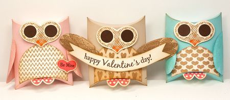 Sweet set of owl pillow boxes eyes on heart from my for Owl pillow box template