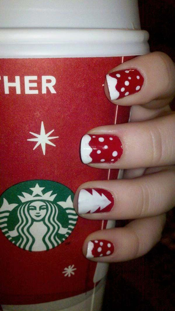 Christmas Nail Art Design Ideas 2013 2014 We Like This Stop Into