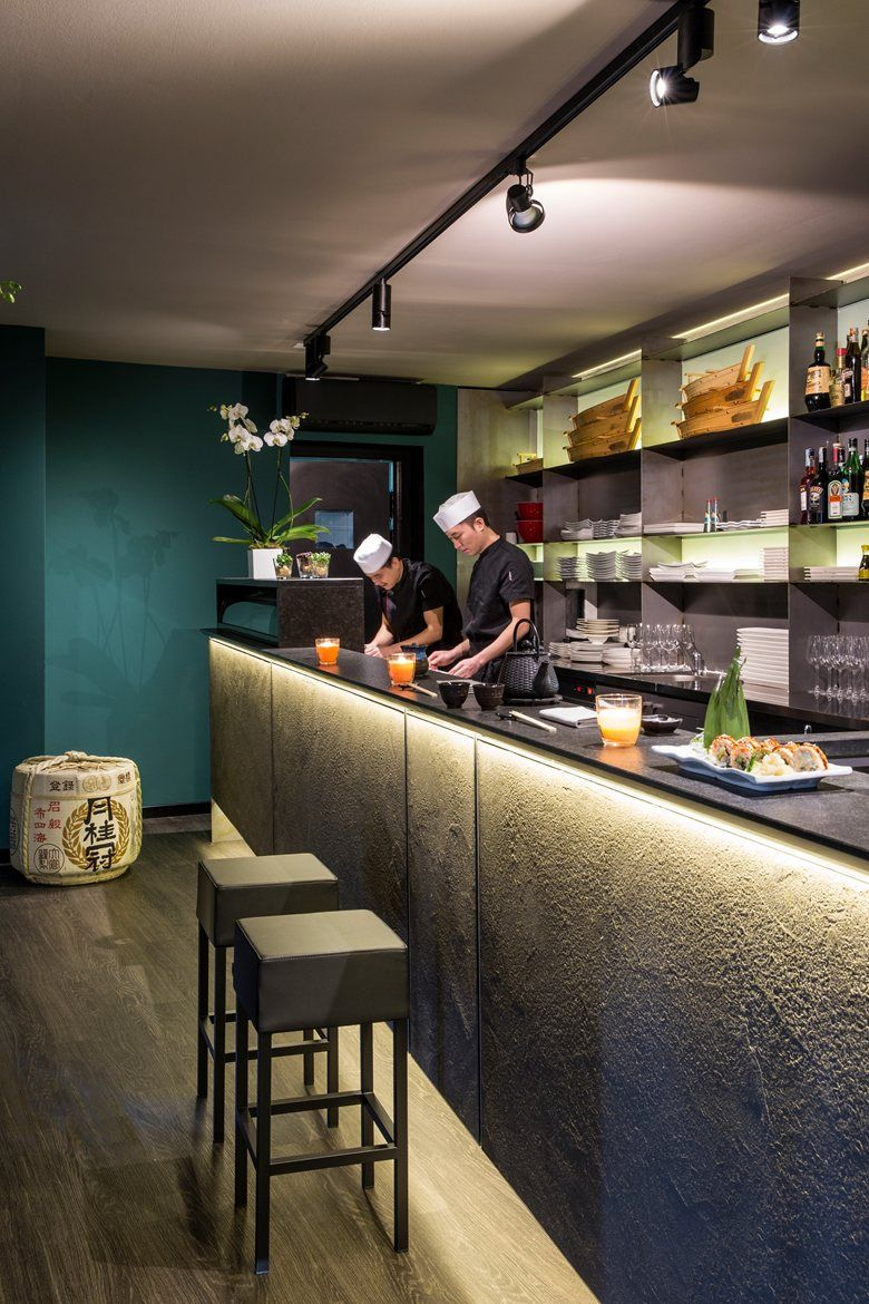 Yoshi Sushi Restaurant Picture Gallery Resturant Interior Design Anese Bar