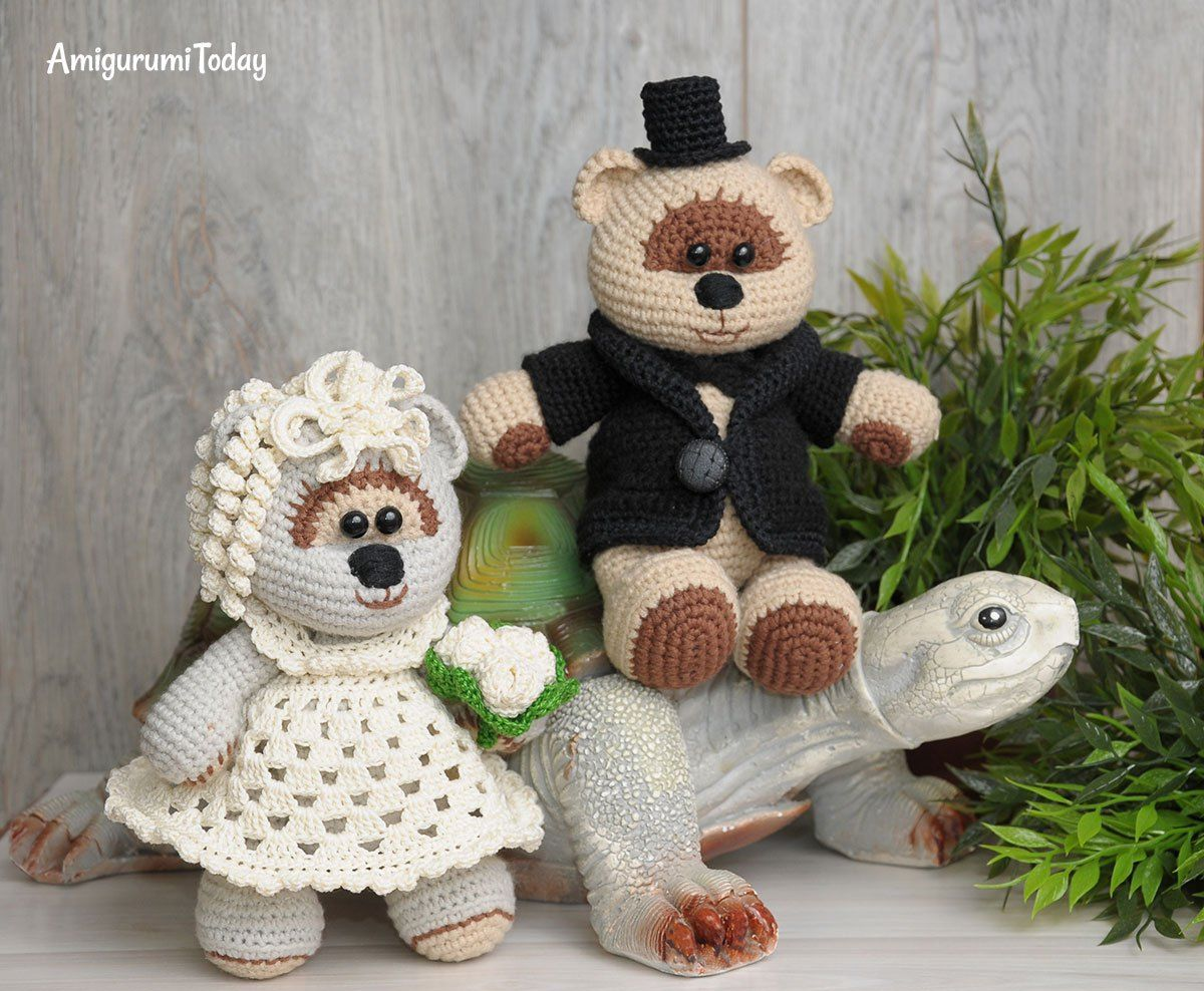 Amigurumi Free Patterns Bear : Amigurumi wedding bears: crochet pattern amigurumi patterns free
