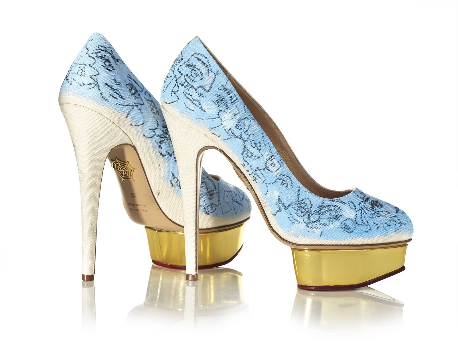 India Wolf and Charlotte Olympia got a bunch of famous artists to decorate high heels. Another example of teenagers working with contemporary artists to create art.