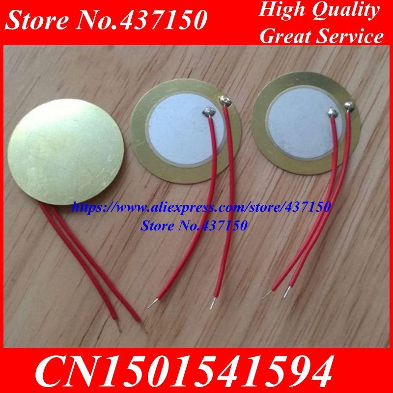10 Stks X 27mm Piezo Ceramic Element Met Weld Kabel Lengte 5 Cm Koperen Substraat Piezo Keramische Gratis Verzending Electronic Accessories Electronics