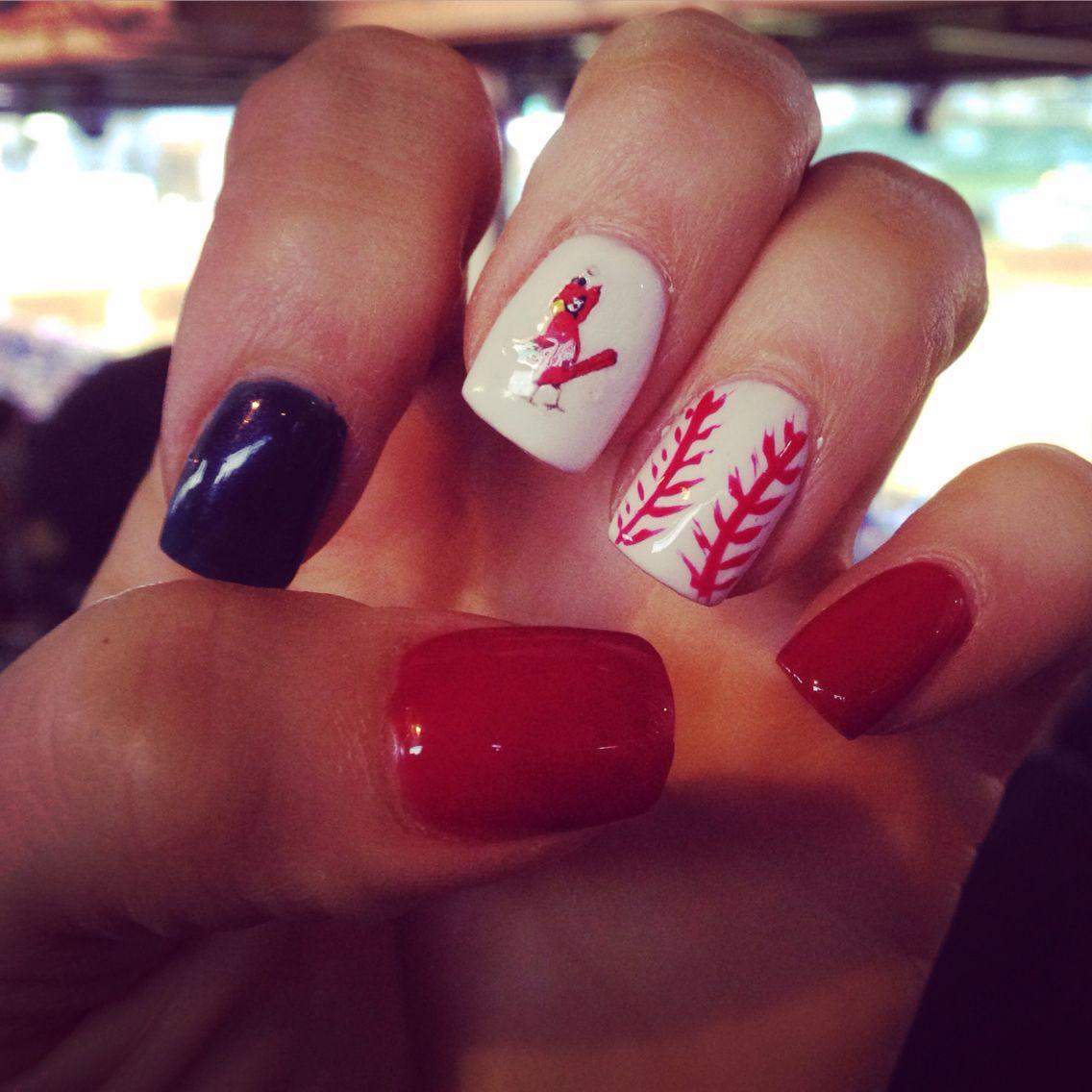 st. louis cardinals baseball nail