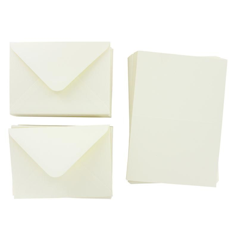 Ivory C6 Cards And Envelopes 4 X 6 Inches 50 Pack Wedding