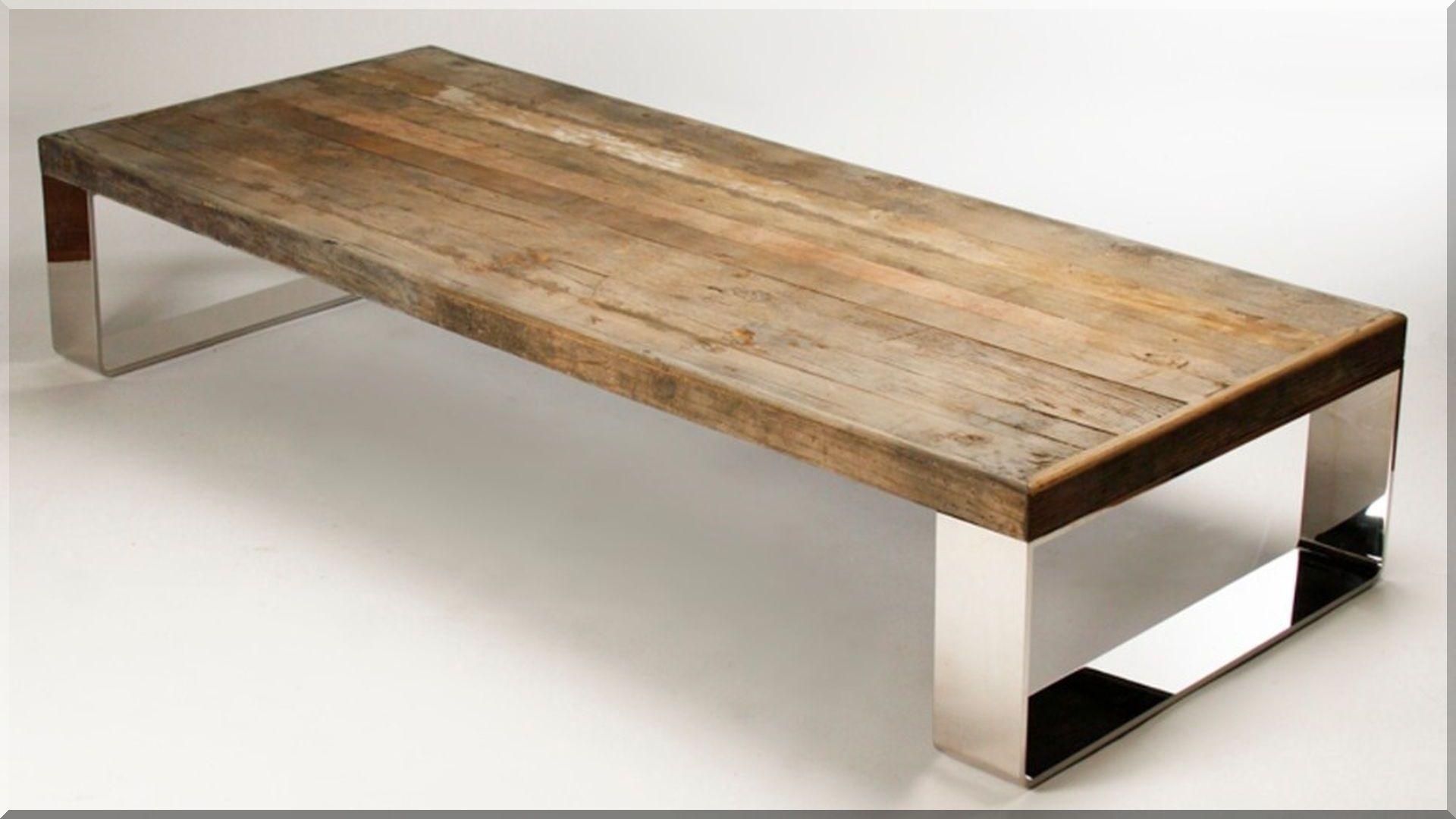 bontott faanyagból készült modern asztal Kávézóasztalok