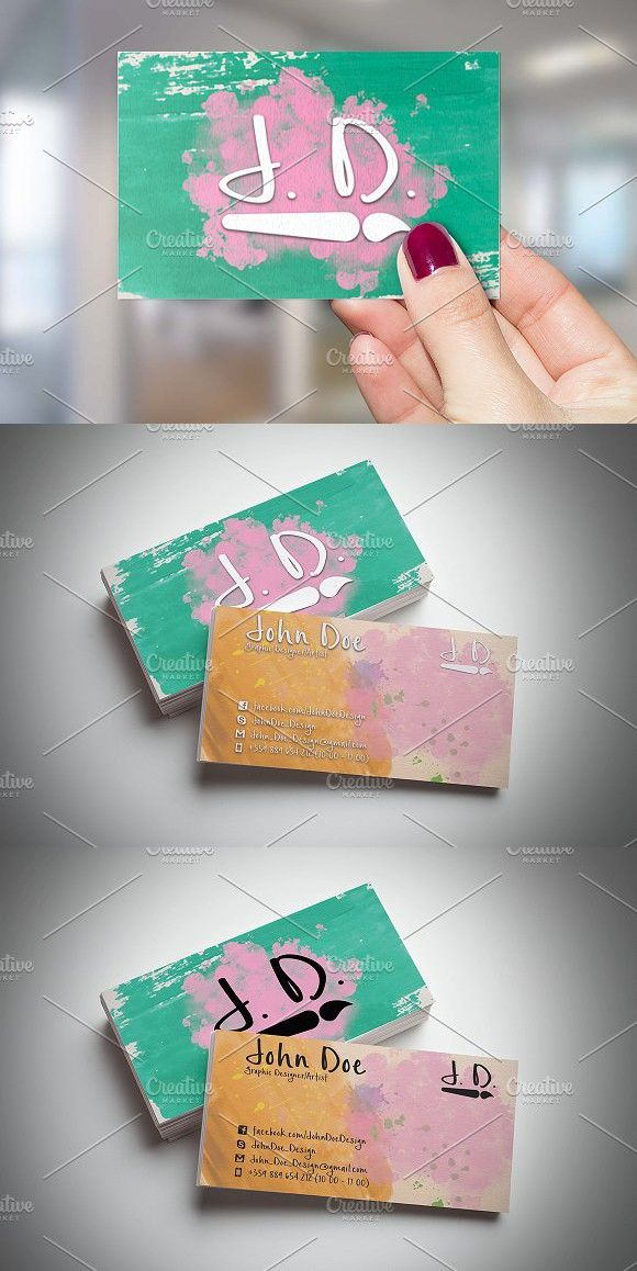 Artistic Business Card. Creative Business Card Templates | Creative ...
