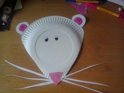 Paper plate mouse & Paper plate mouse | basteln | Pinterest | Mice Paper plate crafts ...