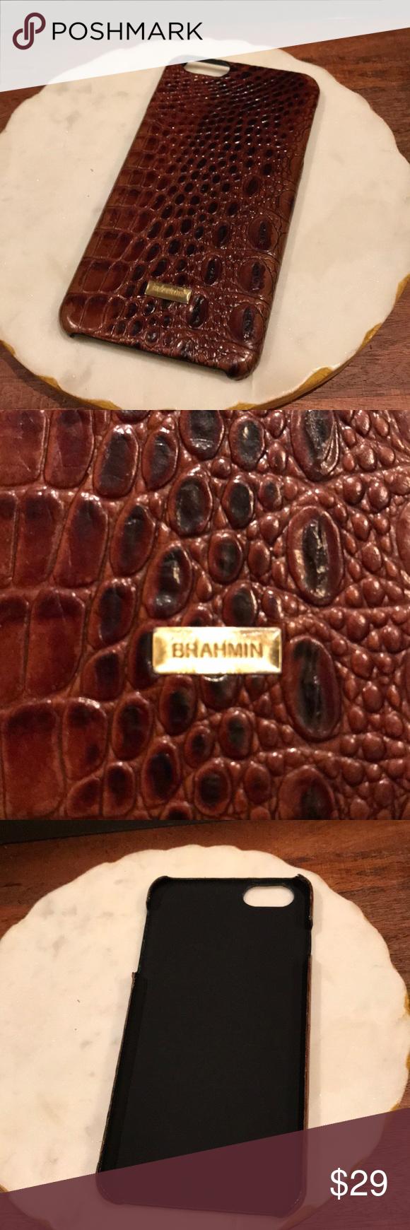 premium selection 037cc 104d9 Brahmin iPhone 7/8 plus case Never used. Gorgeous brown crocodile ...