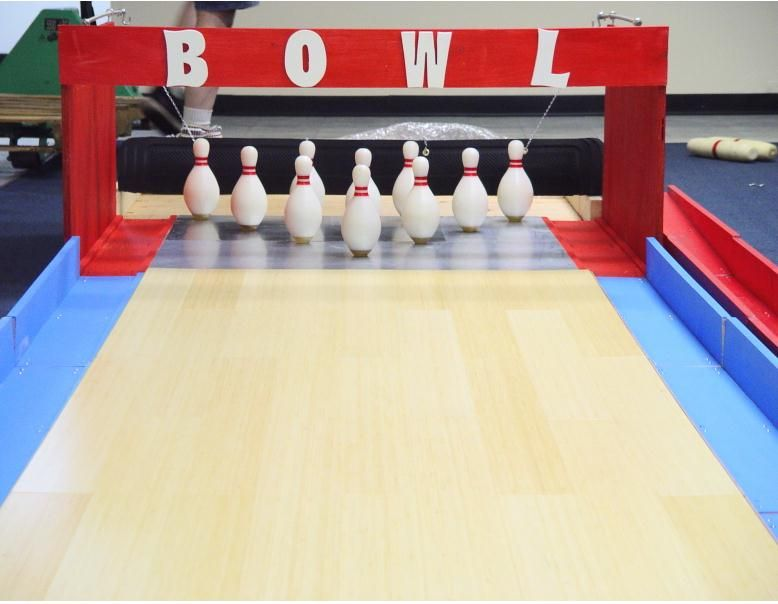 Homemade Bowling Lanes Just For Fun Or Preserving History Diy Bowling Alley Diy Bowling Bowling