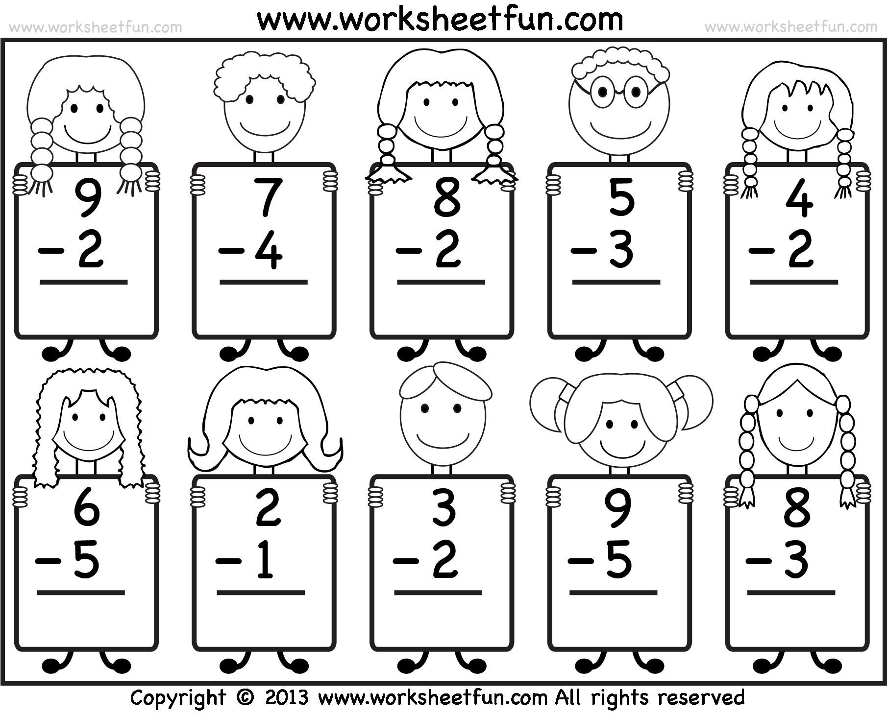 Beginner Subtraction 10 Worksheets Free Printable Worksheets Worksheetfu Addition Kindergarten Kindergarten Addition Worksheets 1st Grade Math Worksheets